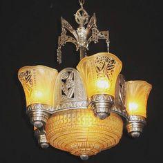 Art Deco chandelier, 1921.