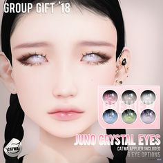 Juno Crystal Eyes April 2018 Group Gift by - Second Life Freebies Los Sims 4 Mods, Sims 4 Body Mods, Sims 4 Game Mods, Sims 4 Cc Eyes, Sims 4 Mm, Sims 4 Mods Clothes, Sims 4 Clothing, Photoshop Elementos, Sims 4 Anime