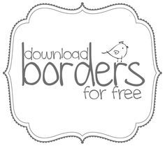 Free borders to download | Pure Sweet Joy. bracket frames