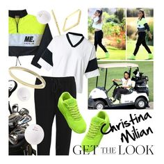 """""""#GetTheLook @ChristinaMilian #GolfStyle"""" by rvgems ❤ liked on Polyvore featuring ABS by Allen Schwartz, T By Alexander Wang, NIKE, FOSSIL, GetTheLook, ChristinaMilian, realityTV and ChristinaMilianTurnedUp"""