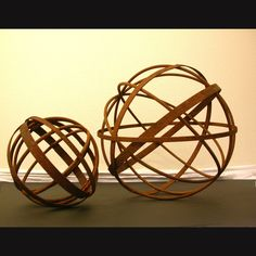 14 Sphere Garden Metal Sculpture by redgrassdesigns on Etsy, $65.00