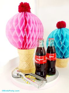 Pool Party Ideas with a DIY Ice Cream Float Station! #ShareaCokeContest