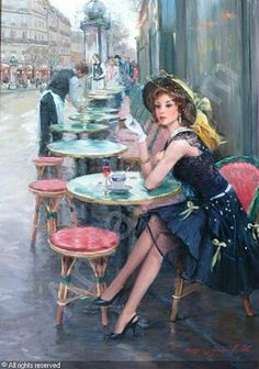 ART FOR FRIDAY EVENING COCKTAILS AT THE BISTRO  Konstantin·Razumov