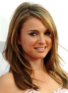 long layers- Natalie Portman Reasons I love it: Faceframing creates movement and interest instead of one boring length, her layers look undone and textured, would look good curled as well