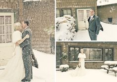 snow- winter wedding