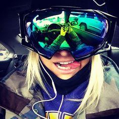 goggles. girl. snow