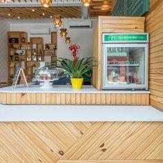 | Me Gusta Coffee Shop, Liquor Cabinet, Storage, Outdoor Decor, Design, Furniture, Home Decor, Cafeteria Decor, Sao Paulo