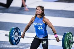 Four-time individual CrossFit Games qualifier Dani Horan during the snatch event at the 2017 Reebok CrossFit Games. She tied for ninth in the event (192 lb.) and finished 20th overall at the #CrossFitGames. Horan has a gymnastics and equestrian-hunter-jumper background and was introduced to @CrossFit by her dentist in 2010.