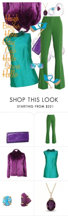 """Job Interview"" by april-wilson-nolen ❤ liked on Polyvore featuring Judith Leiber, VIVETTA, Balenciaga, Melissa Joy Manning and Ray-Ban"