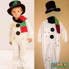 костюм для мальчика Снеговик своими руками МК