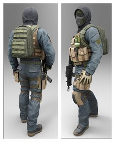 model for military game Combat Armor, Combat Gear, Airsoft Gear, Tactical Gear, Tactical Clothing, Character Concept, Character Design, Cyberpunk Character, Cyberpunk Girl