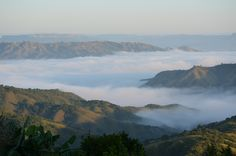 Valley of a Thousand Hills - early morning mist close to Hillcrest (Botha's Hill) in Kwazulu-Natal.