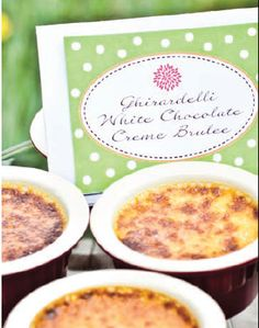 Ghirardelli White Chocolate Creme Brulee