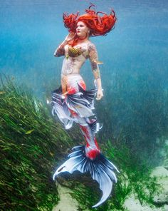 Whimsy Mermaid and Merman Tails for Swimming created by Mertailor Fantasy Mermaids, Mermaids And Mermen, Real Mermaids, Mermaid Cove, Mermaid Art, Merman Tails, Realistic Mermaid Tails, Butterfly Koi, Chica Fantasy