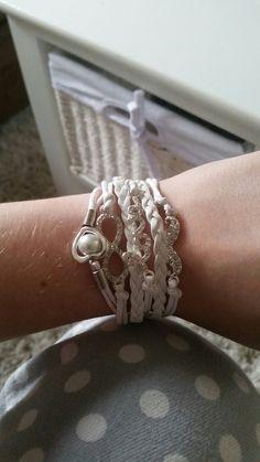 Wish | infinity bracelet, heart shaped pearls bracelet,wedding bracelet love bracelet,mustache leather