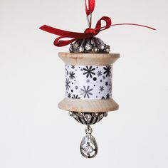 Vintage Wooden Spool Christmas Ornament by CarolsThreads on Etsy, $9.00