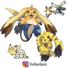 Pokemon Fusion, Digimon Fusion, Pokemon Eevee, Pokemon Fan Art, Cool Pokemon, Pokemon Stuff, Cartoon Monsters, Cross Art, Anime Crossover