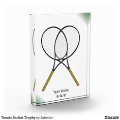 Tennis Racket Trophy Acrylic Award