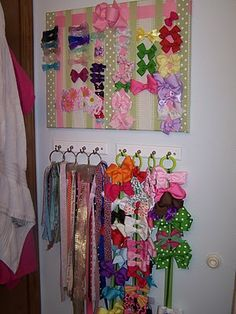 51 Ideas hair accessories organization diy hooks - Best DIY and Crafts 2019 Organizing Hair Accessories, Accessories Display, Diy Hair Accessories, Diy Hooks, Diy Organization, Household Organization, Diy Hairstyles, Getting Organized, Hair Bows