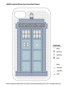 Using this pattern to make myself a cross stitch TARDIS. Unfortunately, I have no iphone to make this as a case for :(
