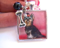 Yorkshire Terrier Yorkie Dog Image Resin Pendant Necklace