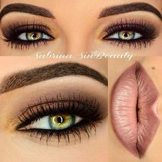 Gorgeous Dark Eyes and Mauve Lips