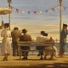 Jack Vettriano - The Pier.