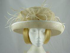8d8fd251 Hatmosphere Collection Jane Wedding hat in Natural. Ascot HatsWedding  HatsFascinatorWedding ...