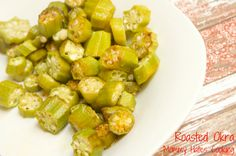 """Oven Fried Okra  cut in 1/2"""" pieces rinse well  Put in bowl, sprinkle cumin, chili flakes, garlic then add some olive oil put in baking pan......broil 3-5 min then 450 5-8 min......Delicious! grill, roast okra, oven roast"""
