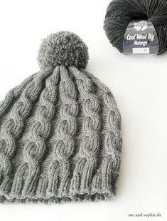 Baby Knitting Patterns Yarn simple knit hat with cable pattern # cap . Baby Knitting Patterns, Crochet Patterns, Crochet Baby, Knit Crochet, Crochet Stitch, Single Crochet, Free Crochet, Pull Bebe, Patterned Socks