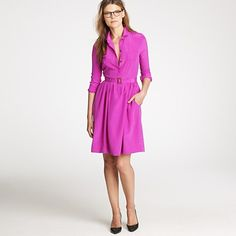 J. Crew Blythe silk shirtdress. perfect for work at my slightly stuffy Wash, DC office.