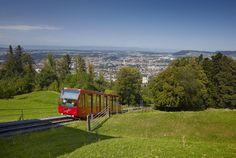 Gurten Hill in Bern--ride the tram up, get great views, walk down the hill/mountain!