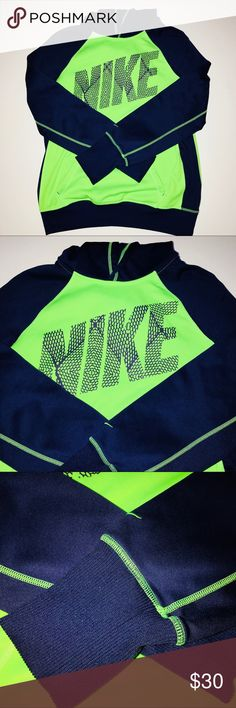 Nike Sweatshirt ! Neon green Great for working out  Great Condition  Super comfy Nike Tops Sweatshirts & Hoodies