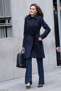 Back to business!Letizia, who returned to her royal duties last week following the festiv...