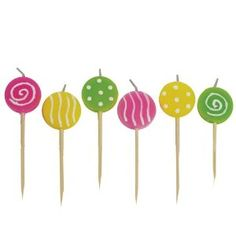 Lollipop Birthday Candles