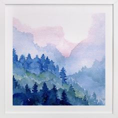 """Cascade Mist"" - Art Print by Me Amelia in beautiful frame options and a variety of sizes."