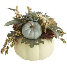 Faux Pumpkin Floral Arrangement   Pier 1 Imports