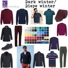 kleuren kleding voorbeelden diepe wintertype man