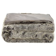 """Wolf Faux Fur Throw 50"""" X 60"""" Wolf, Bouclair, Faux Fur Throw, Knitted Throws, Baby Bunnies, Bed Throws, Texture, Throw Rugs, Snuggles"""