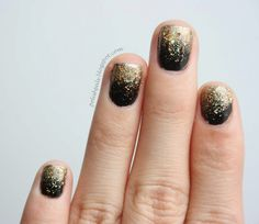 Gold Glitter Gradient -- Perfect and simple for your future New Years Eve mani. :D