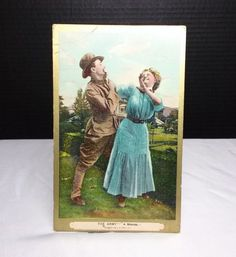 """Post Card """"The Army-A Misfire, copyright and dated 1909, Stamp"""