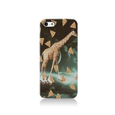 Trippy Pizza Giraffe is available for iPhone 4/4S, iPhone 5/5s, iPhone 5c and new iPhone 6. The picture shows the design on an iPhone 5/5s case  Our