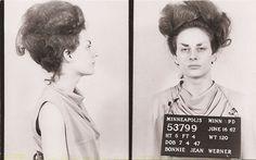 Those are some eyebrows. Vintage bad girl mug shots.