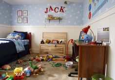Inspired from Disney Pixar's blockbuster movie, Toy Story - Looks just like Andy's room Toy Story Bedroom, Toy Story Nursery, Lego Bedroom, Kids Bedroom, Inside A House, Up House, Childrens Bedroom Decor, Bedroom Themes, Bedroom Ideas