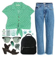 """""""Off 342"""" by juuliap ❤ liked on Polyvore featuring Luigi Bormioli, Skinnydip, Kocostar, Library of Flowers, Ray-Ban and Omorovicza"""
