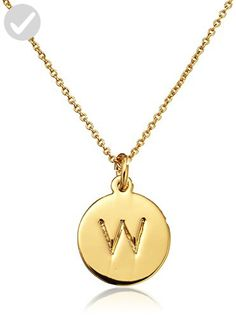 "kate spade new york ""Kate Spade Pendants"" ""W"" Pendant Necklace, 18"" - All about women (*Amazon Partner-Link)"