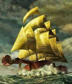 Violin ship by Vladimir Kush.