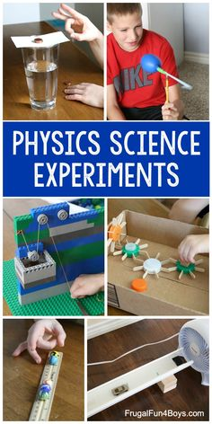 Physics Science Experiments for Elementary Aged Kids - Hands-on science projects for force and motion, mechanics, magnetism, Electricity, and more. science Physics Science Experiments for Elementary Aged Kids Physics Projects, Science Projects For Kids, Science For Kids, Science Activities, Science Education, Physical Education, Physical Science Projects, Science Labs, Science Daily