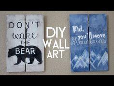 DIY Wood Wall Art - YouTube