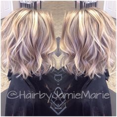 "109 Likes, 29 Comments - Jamie🖤Marie (@hairbyjamiemarie) on Instagram: ""Shorter hair and added texture for my client! @kerala_m #hairbyjamiemarie #tanglestotoes"""